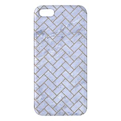 BRICK2 WHITE MARBLE & SAND (R) Apple iPhone 5 Premium Hardshell Case