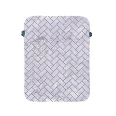 BRICK2 WHITE MARBLE & SAND (R) Apple iPad 2/3/4 Protective Soft Cases