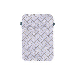 BRICK2 WHITE MARBLE & SAND (R) Apple iPad Mini Protective Soft Cases