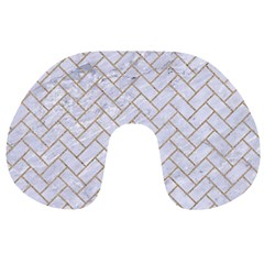 BRICK2 WHITE MARBLE & SAND (R) Travel Neck Pillows