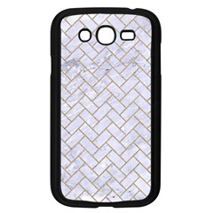 BRICK2 WHITE MARBLE & SAND (R) Samsung Galaxy Grand DUOS I9082 Case (Black)