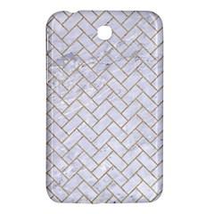 Brick2 White Marble & Sand (r) Samsung Galaxy Tab 3 (7 ) P3200 Hardshell Case