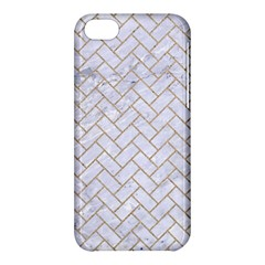 Brick2 White Marble & Sand (r) Apple Iphone 5c Hardshell Case by trendistuff