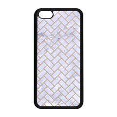 BRICK2 WHITE MARBLE & SAND (R) Apple iPhone 5C Seamless Case (Black)