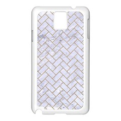 BRICK2 WHITE MARBLE & SAND (R) Samsung Galaxy Note 3 N9005 Case (White)