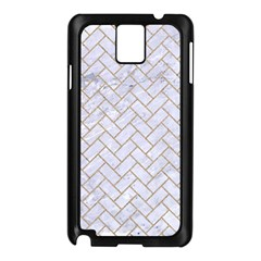 BRICK2 WHITE MARBLE & SAND (R) Samsung Galaxy Note 3 N9005 Case (Black)