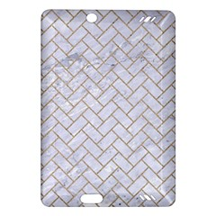 BRICK2 WHITE MARBLE & SAND (R) Amazon Kindle Fire HD (2013) Hardshell Case