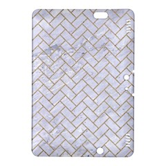BRICK2 WHITE MARBLE & SAND (R) Kindle Fire HDX 8.9  Hardshell Case