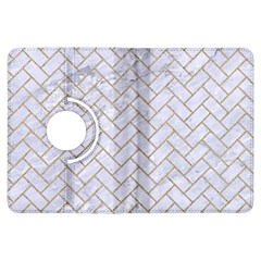BRICK2 WHITE MARBLE & SAND (R) Kindle Fire HDX Flip 360 Case