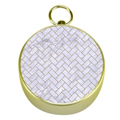 Brick2 White Marble & Sand (r) Gold Compasses
