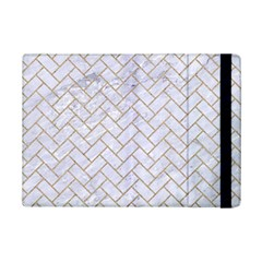 BRICK2 WHITE MARBLE & SAND (R) iPad Mini 2 Flip Cases