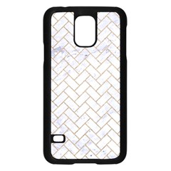 BRICK2 WHITE MARBLE & SAND (R) Samsung Galaxy S5 Case (Black)