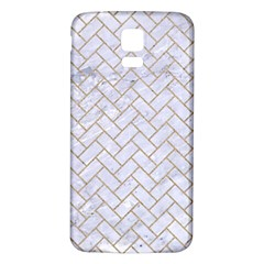 BRICK2 WHITE MARBLE & SAND (R) Samsung Galaxy S5 Back Case (White)
