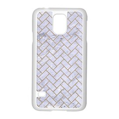Brick2 White Marble & Sand (r) Samsung Galaxy S5 Case (white)