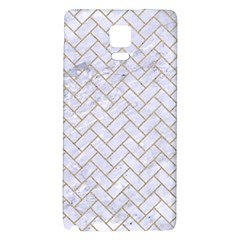 BRICK2 WHITE MARBLE & SAND (R) Galaxy Note 4 Back Case