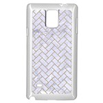 BRICK2 WHITE MARBLE & SAND (R) Samsung Galaxy Note 4 Case (White) Front