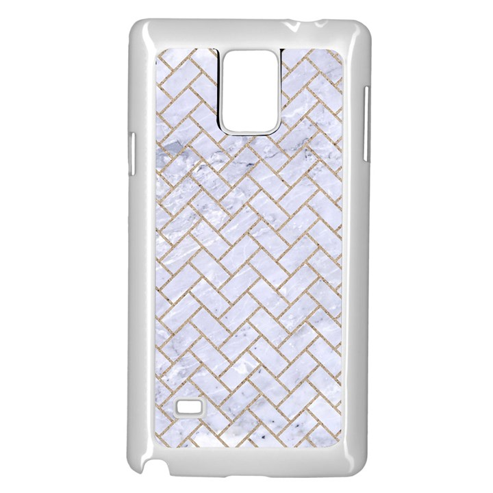 BRICK2 WHITE MARBLE & SAND (R) Samsung Galaxy Note 4 Case (White)