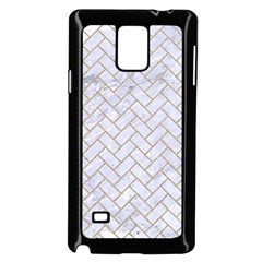 BRICK2 WHITE MARBLE & SAND (R) Samsung Galaxy Note 4 Case (Black)