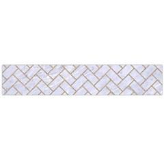 Brick2 White Marble & Sand (r) Large Flano Scarf