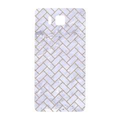 Brick2 White Marble & Sand (r) Samsung Galaxy Alpha Hardshell Back Case