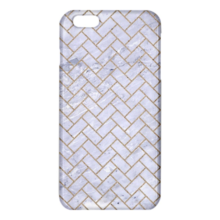 BRICK2 WHITE MARBLE & SAND (R) iPhone 6 Plus/6S Plus TPU Case