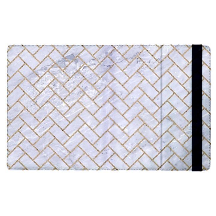 BRICK2 WHITE MARBLE & SAND (R) Apple iPad Pro 12.9   Flip Case