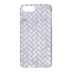 BRICK2 WHITE MARBLE & SAND (R) Apple iPhone 7 Plus Hardshell Case
