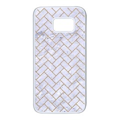 BRICK2 WHITE MARBLE & SAND (R) Samsung Galaxy S7 White Seamless Case