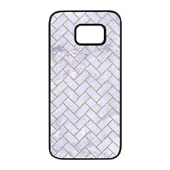 BRICK2 WHITE MARBLE & SAND (R) Samsung Galaxy S7 edge Black Seamless Case