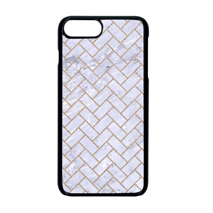BRICK2 WHITE MARBLE & SAND (R) Apple iPhone 7 Plus Seamless Case (Black)