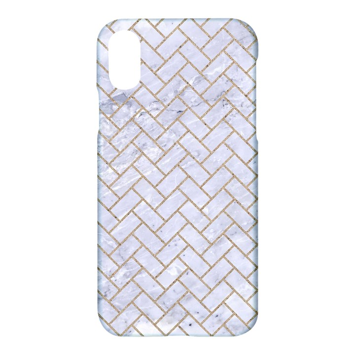 BRICK2 WHITE MARBLE & SAND (R) Apple iPhone X Hardshell Case