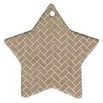 BRICK2 WHITE MARBLE & SAND Ornament (Star)