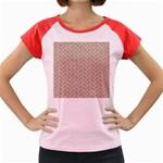 BRICK2 WHITE MARBLE & SAND Women s Cap Sleeve T-Shirt