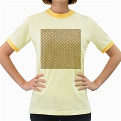 BRICK2 WHITE MARBLE & SAND Women s Fitted Ringer T-Shirts