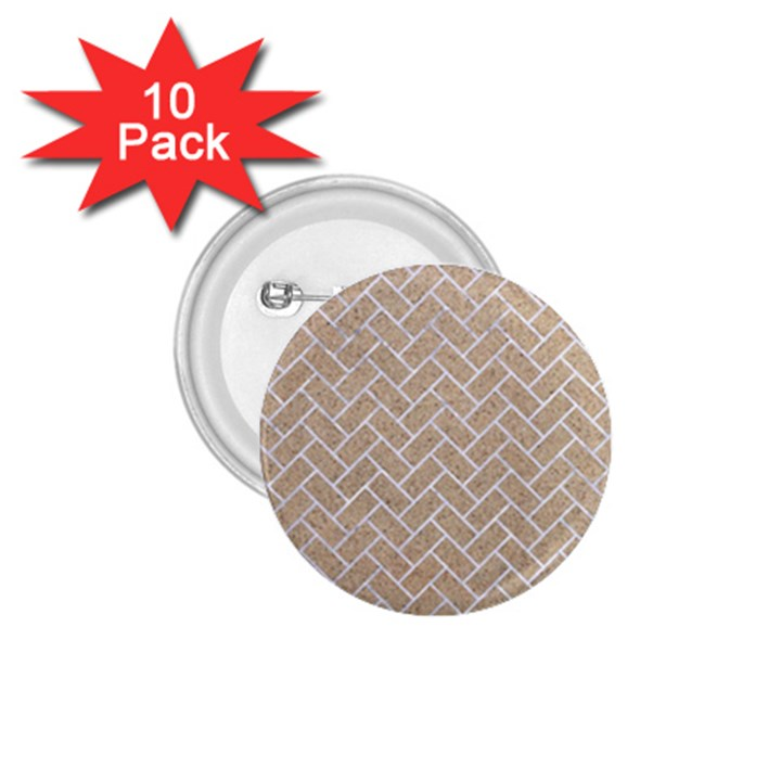 BRICK2 WHITE MARBLE & SAND 1.75  Buttons (10 pack)