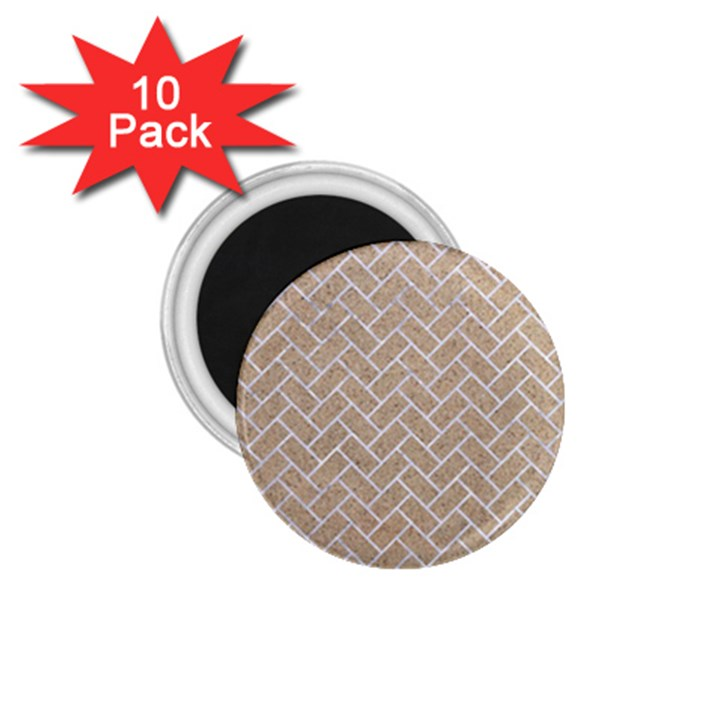BRICK2 WHITE MARBLE & SAND 1.75  Magnets (10 pack)