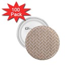 BRICK2 WHITE MARBLE & SAND 1.75  Buttons (100 pack)  Front