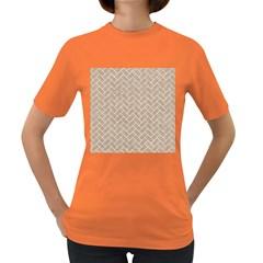 BRICK2 WHITE MARBLE & SAND Women s Dark T-Shirt