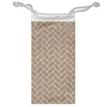 BRICK2 WHITE MARBLE & SAND Jewelry Bag Front