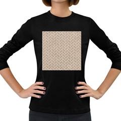 BRICK2 WHITE MARBLE & SAND Women s Long Sleeve Dark T-Shirts