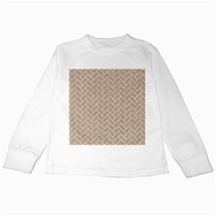Brick2 White Marble & Sand Kids Long Sleeve T Shirts by trendistuff