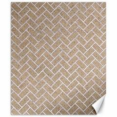 Brick2 White Marble & Sand Canvas 8  X 10