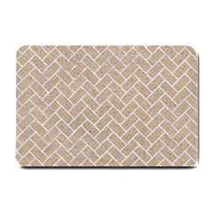 Brick2 White Marble & Sand Small Doormat