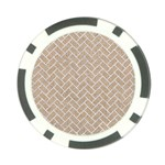 BRICK2 WHITE MARBLE & SAND Poker Chip Card Guard Front