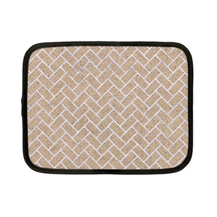 BRICK2 WHITE MARBLE & SAND Netbook Case (Small)
