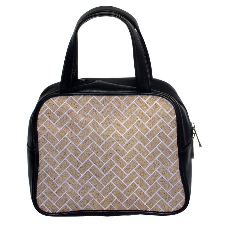 BRICK2 WHITE MARBLE & SAND Classic Handbags (2 Sides)