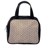 BRICK2 WHITE MARBLE & SAND Classic Handbags (2 Sides) Back