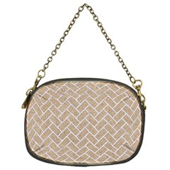 Brick2 White Marble & Sand Chain Purses (one Side)
