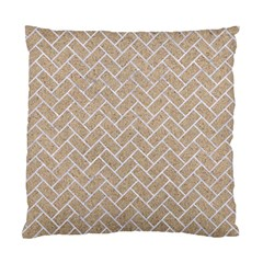 BRICK2 WHITE MARBLE & SAND Standard Cushion Case (Two Sides)