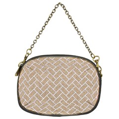 BRICK2 WHITE MARBLE & SAND Chain Purses (Two Sides)